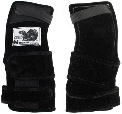 Mongoose Lifter Black Wrist Support- Right Hand (Large)