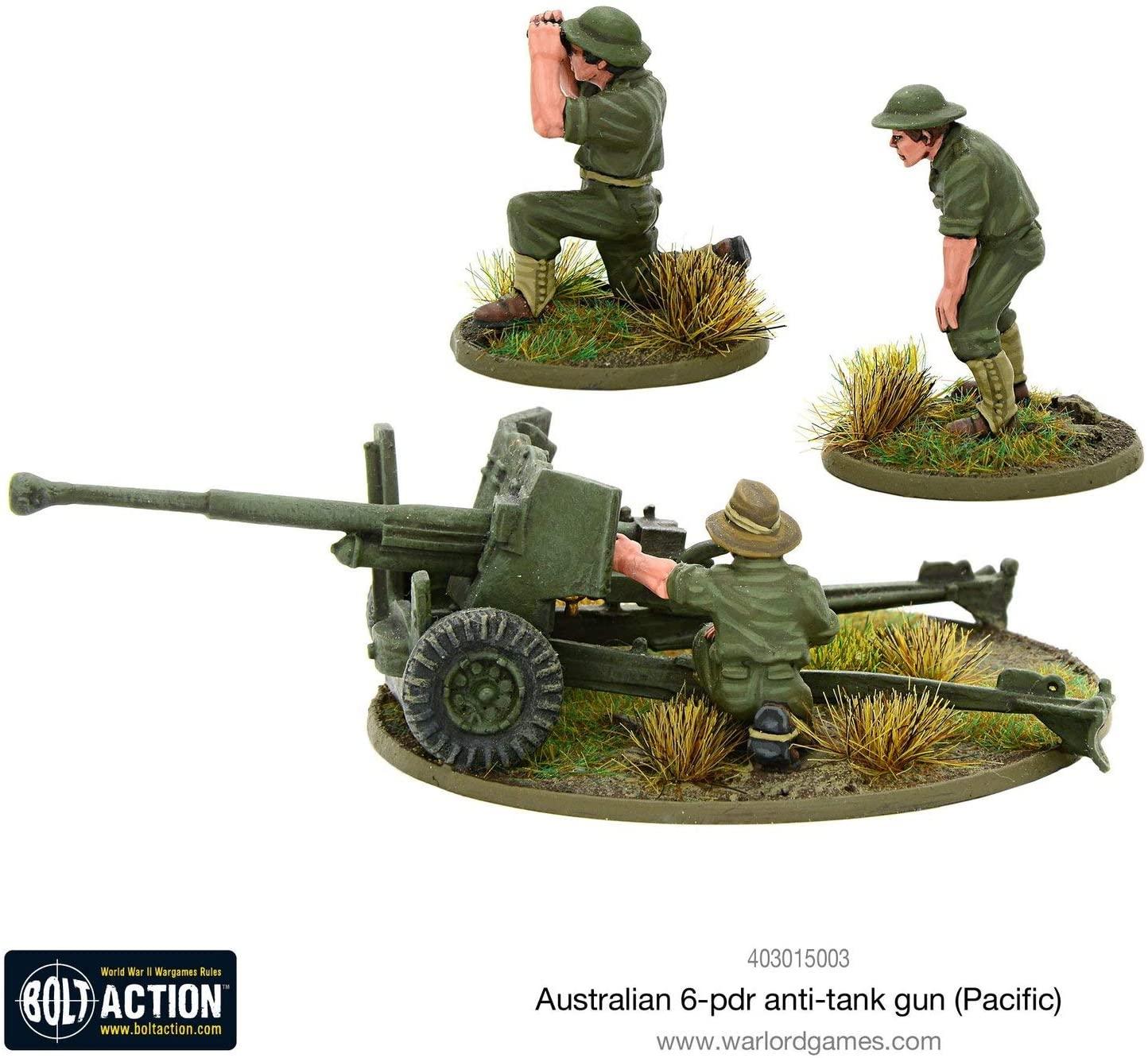 Warlord Games, Bolt Action, Australian 6-PDR Anti-Tank Gun (Pacific)