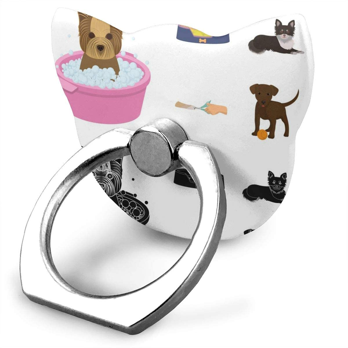 Cat Cell Phone Ring Holder, Ring Phone Holder Trendy for A Pet Cat Ring Holder for Cell Phone, Phone Grip Holder, Phone Ring Stand Finger Kickstand 360° Rotation Compatible with All Smartphones