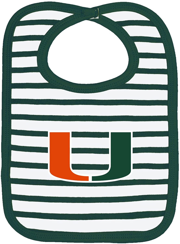 Two Feet Ahead NCAA Auburn Tigers Infant Stripe Knit Bib, One Size, Navy/White