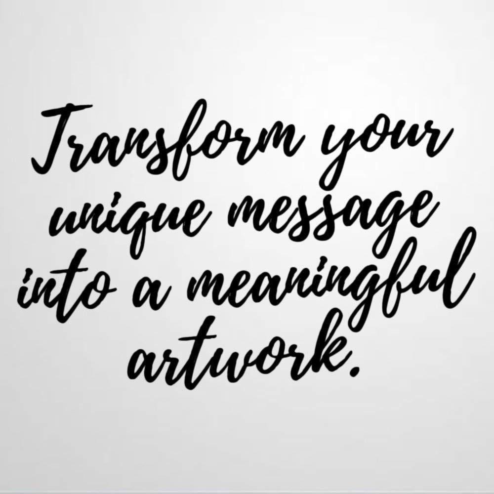 Transform Message Into Artwork Wall Decal Saying,Farmhouse,Weddings Wall Sticker Family Room,Wall Art Decor for Boys Room Kids Bedroom Living Room