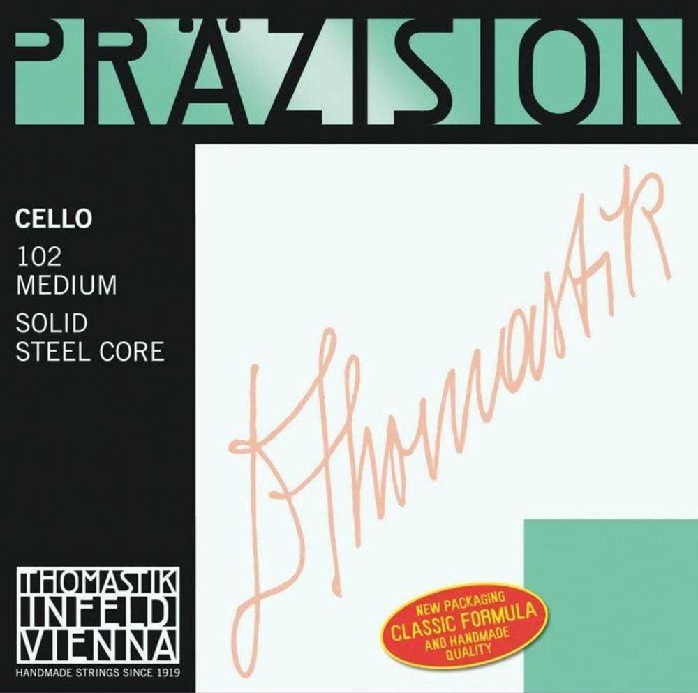 Thomastik-Infeld 93 Precision, Cello String, Single D String, 93, 4/4 Size, Steel Core Chrome Wound