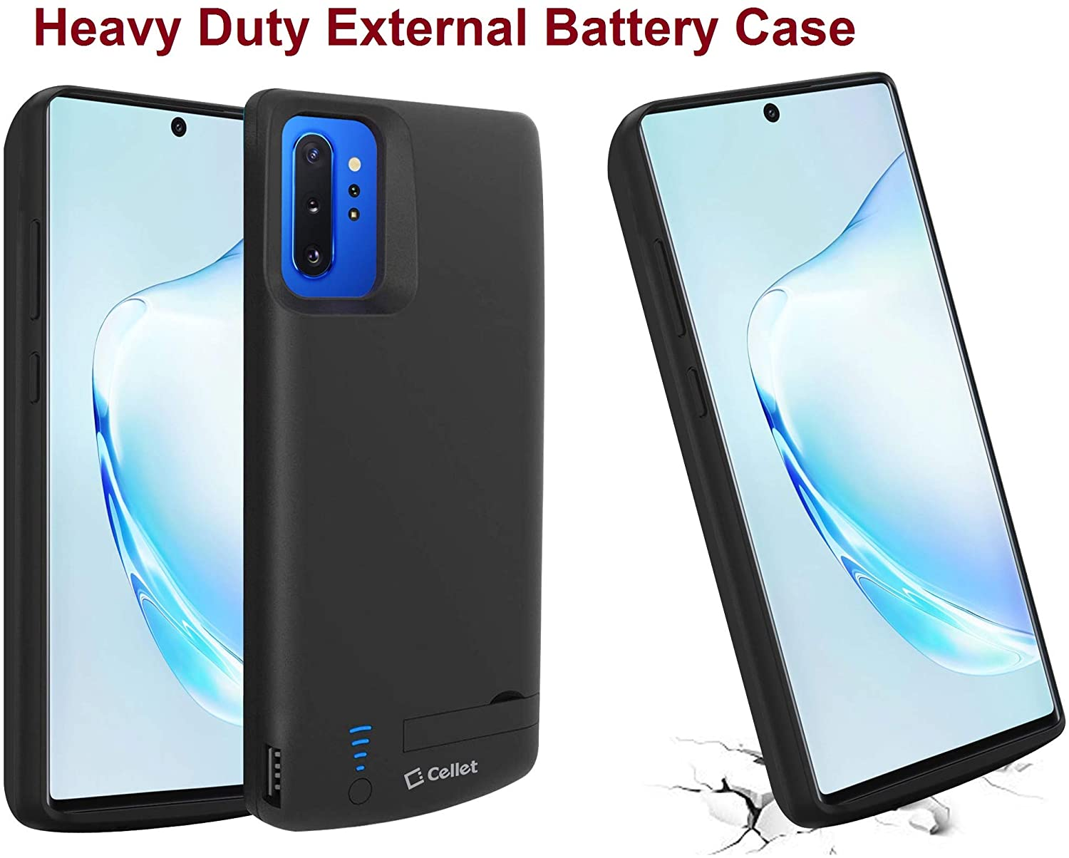 Galaxy Note 10+ Plus (2019) Compatible with External Battery Case, High Power, Heavy Duty Bank (6000mAh) Rechargeable Charging Case