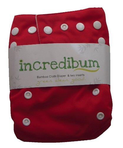 incredibum One Size Bamboo Cloth Diaper (Firecracker)