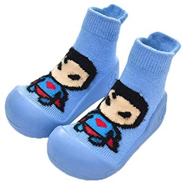 footof Baby toddles Boys Girls Shoes Socks Eco Soft Breathable Safety Rubber Sole First Step Walker Gifts for toddles