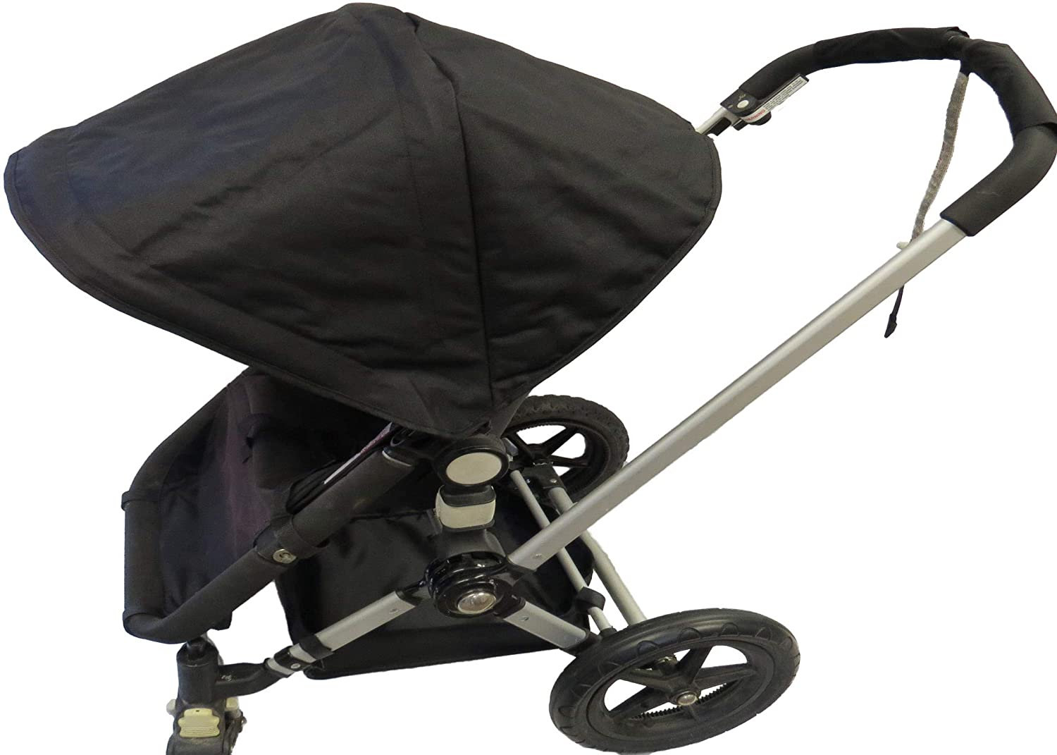 Black Sun Shade Canopy with Wires and Under Seat Storage Basket Plus Free Handle Bar Covers for Bugaboo Cameleon 1, 2, 3, Frog Baby Child Strollers
