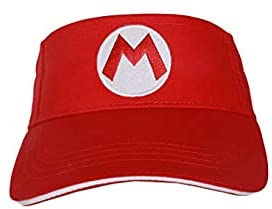 Super Bros Hat Movie Cosplay Costume Accessories Baseball Cap Toys Birthday Gift (Tennis Red Hat)