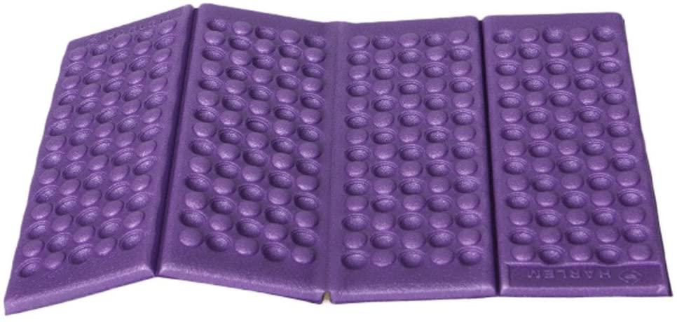 Quaanti Moisture-Proof Folding EVA Foam Pads Mat Cushion Seat Camping Park Picnic Foldable 38x27CM Damp Proof Floor Seating Pads mat (Purple)
