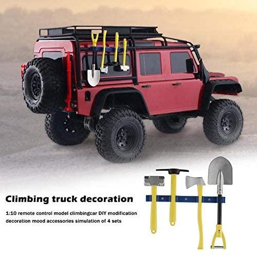 Parts & Accessories 4pcs/Set Mini Small Shovel Hammer Axe Parts 1/10 RC Simulation Decorative Kit for 1/10 RC Rock Cralwer Car TRX4 SCX10