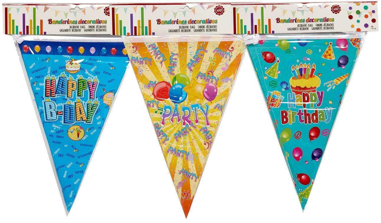 A&R Strip Flags Happy Birthday 2.30 m, Multicolour (48017)