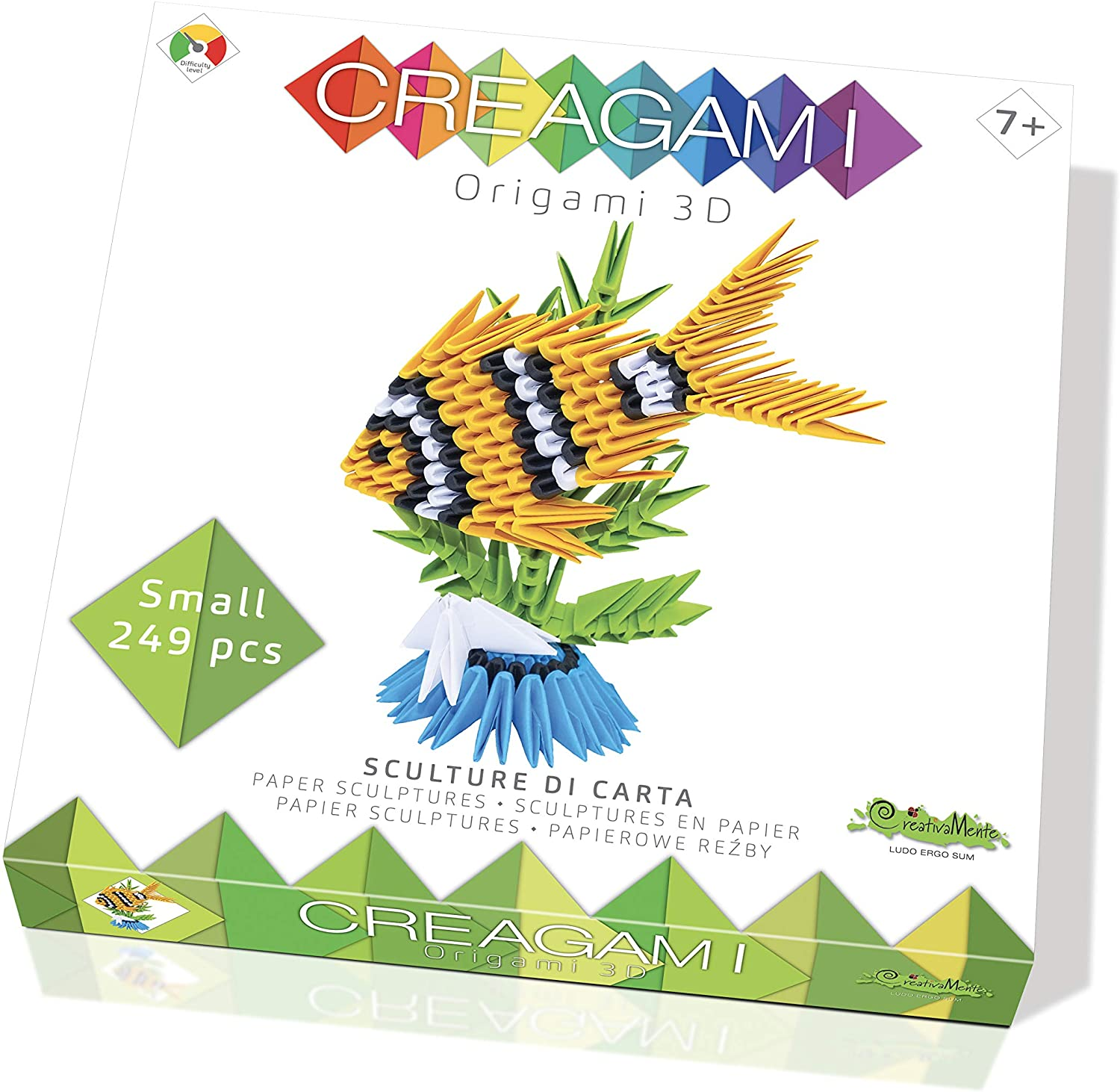 CreativaMente – Creagami Fish, Multicoloured, 762