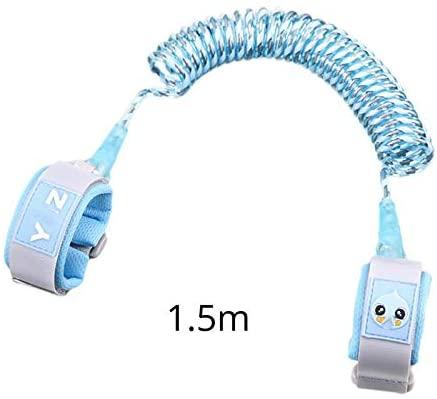 DLDLWJ Reflective tyChildren Anti-Lost Wrist Link Traction Rope Baby Walker Blue 15m
