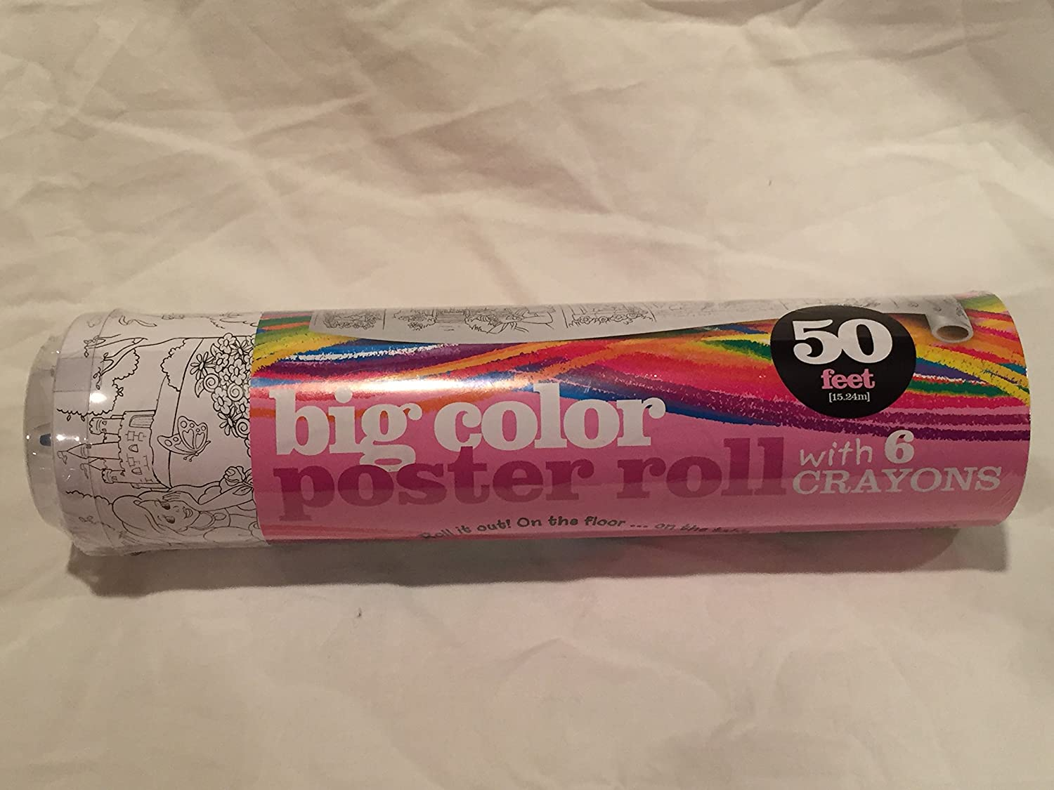 Big Color Princess Poster Roll 50 Feet Long with 6 Crayons