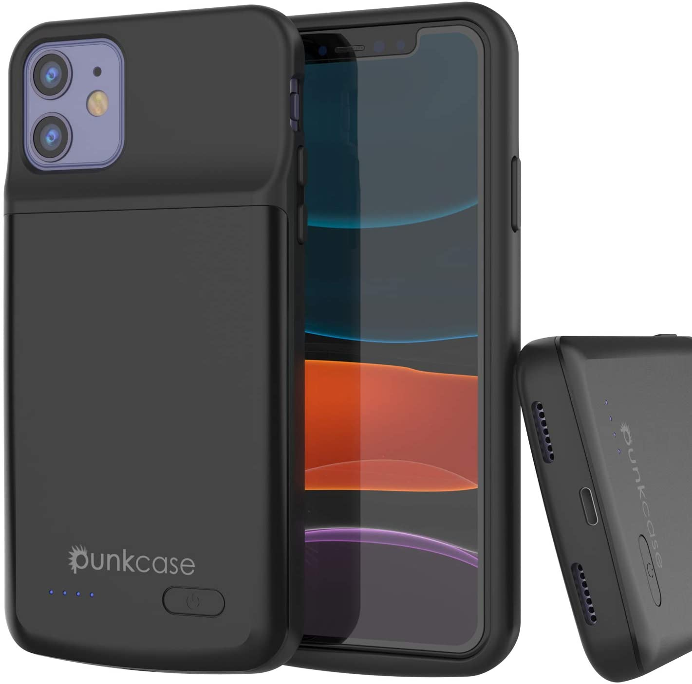PunkJuice iPhone 11 Battery Case, 5000mAH Fast Charging Power Bank W/Screen Protector | IntelSwitch | Slim, Secure and Reliable Compatible with Apple iPhone 11 (6.1