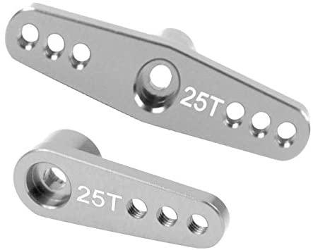 Parts & Accessories 25T RC Servo Arm Horn Aluminum Alloy Extension RC Tools for Futaba MG996 MG995 Servo 1/10 RC Car Crawler Model Toys Accessories - (Color: 2Pcs Titanium)