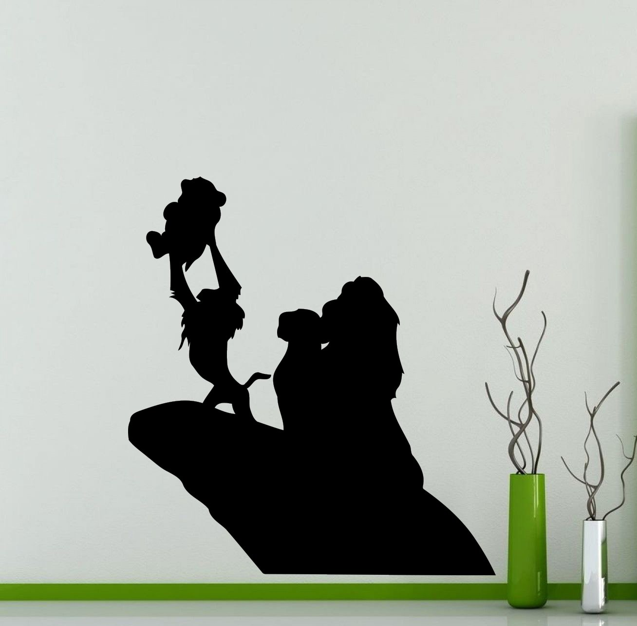 Lion King Wall Decal Simba Pumbaa Timon Scar Vinyl Sticker Home Nursery Kids Boy Girl Room Interior Art Decoration Any Room Mural Waterproof Vinyl Sticker (217xx)