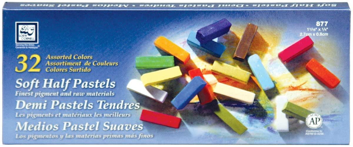 Loew-Cornell Soft Half Pastels, 32-Count