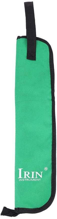 Drum Stick Bag Drumstick Storage Case Hanging Bag Portable Handbag with Handle 5 Colors(Green)