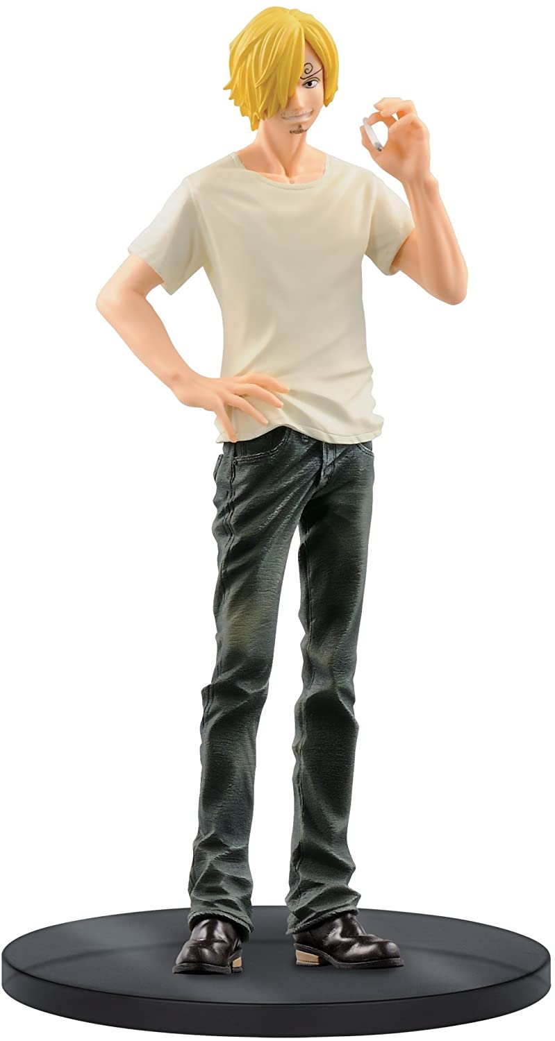 Banpresto One Piece 6.7-Inch Sanji Figure B (Black Jeans), Jeans Freak Series Volume 8
