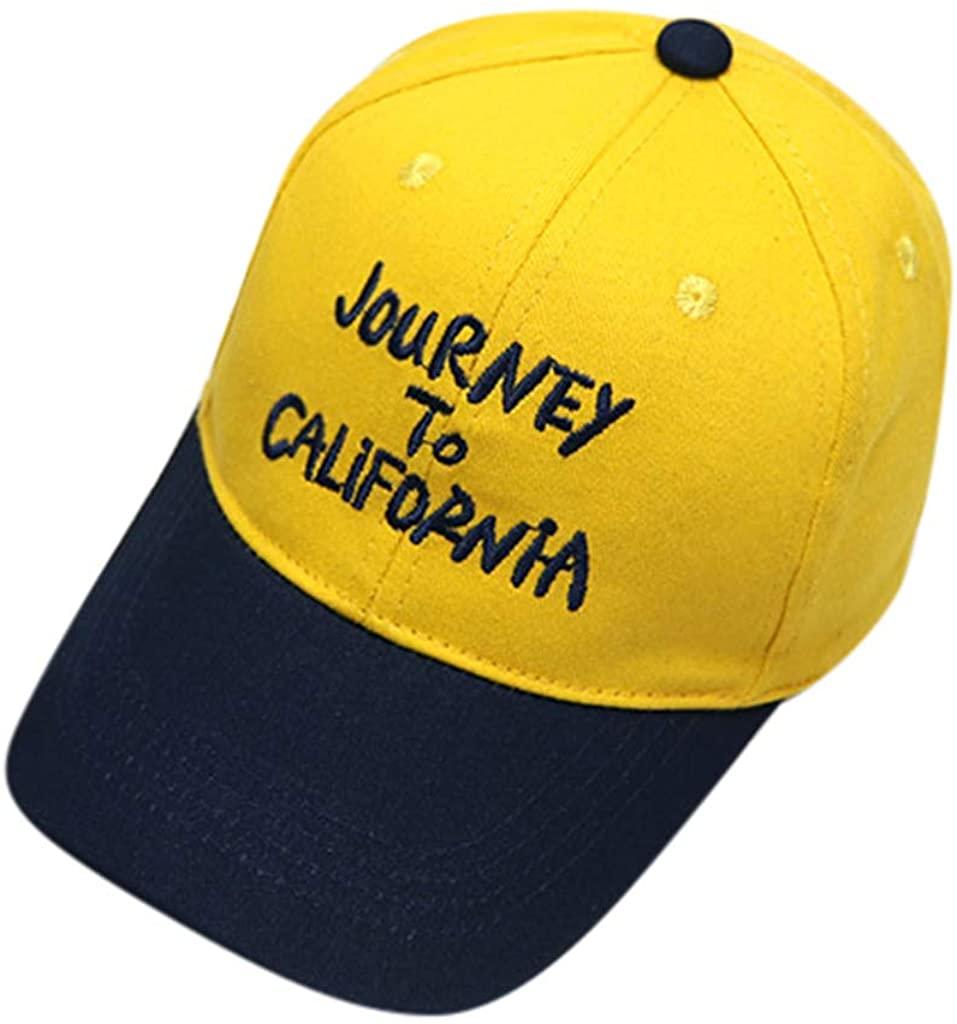 Baseball Cap Sun Hats for Boys Girls Adjustable Letter Soft Cotton Eaves Sun Hat