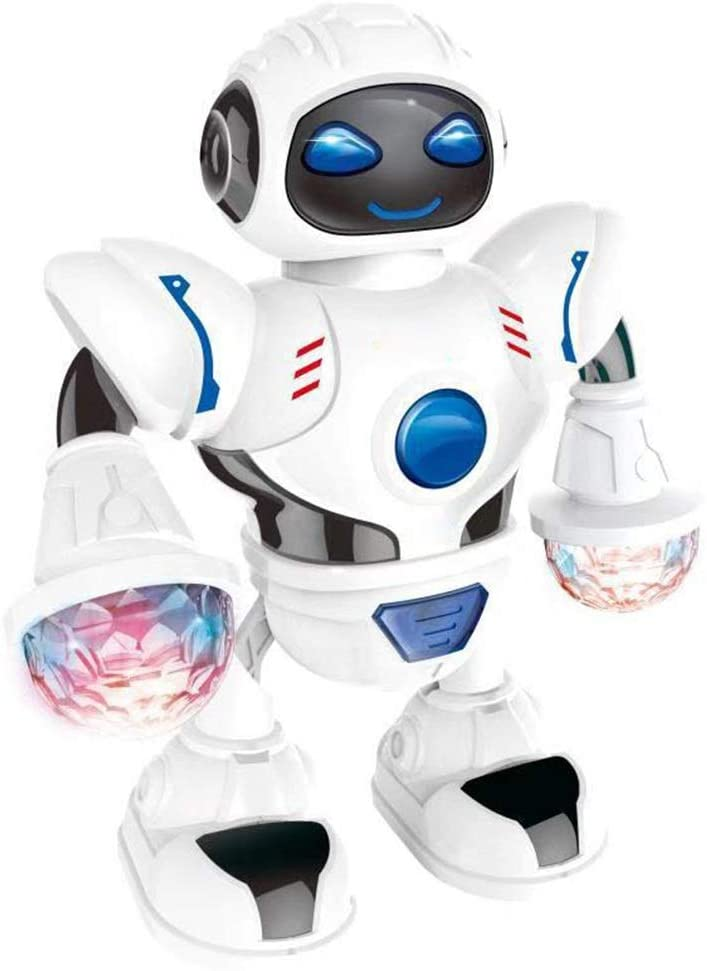 NDY Intelligent Robot, Children's Toy, Music Dancing Robot, Electricity Move Model, Soft LED Lights, Not Dazzling, Stable and Not Easy to Fall