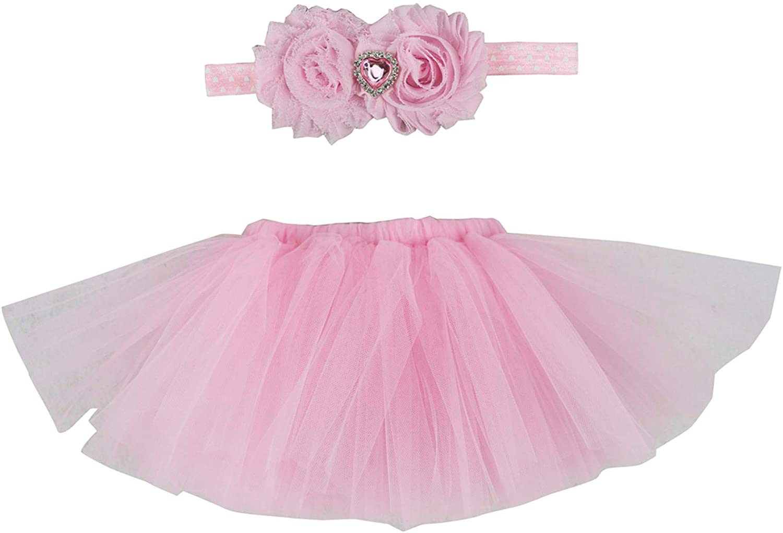 Wennikids Newborn Girls Photo Photography Prop Tutu Skirt Headband Outfits