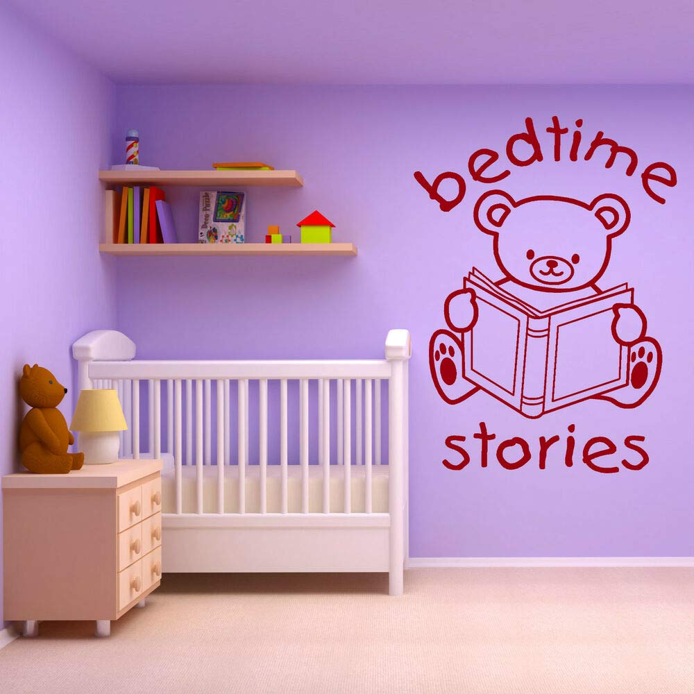 Orsacchiotto Bedtime Stories Vinyl Murale Adhesive Decal for Home Bedroom Decor