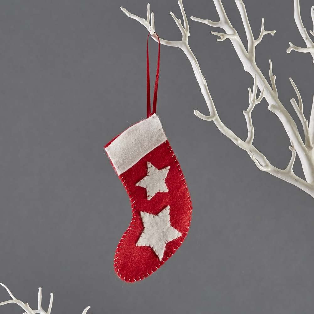 button bag Mini Christmas Stocking Sewing Kit