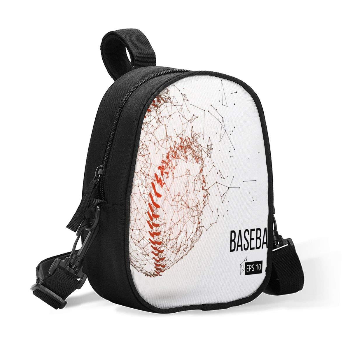 Insulated Baby Bottle Bag Outline of Baseball Multi-Function Breastmilk Cooler Bag & Lunch Bag, Fit As Wine Carrier Or for Milk Bottles, for Nursing Mom Back to Work for 2 Large Bottles