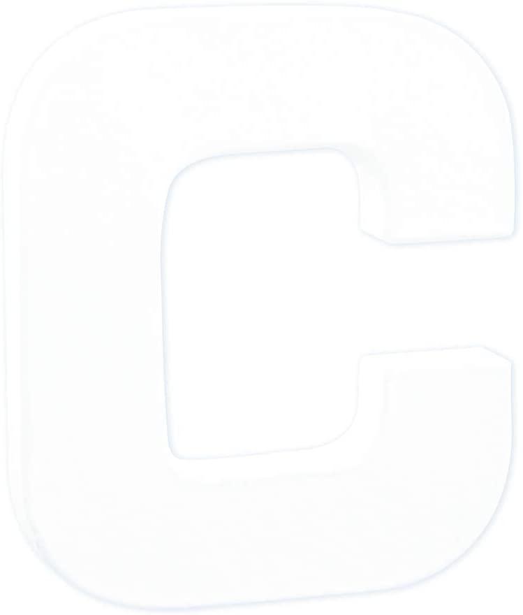 décopatch Mache Little Letter C, 1.5 x 10.5 x 12 cm, White