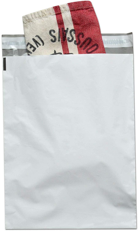 2 Mil, Poly Mailer Envelopes, 6 x 9 Inch, Self Adhesive Sealing Strip, White, 500 Pack