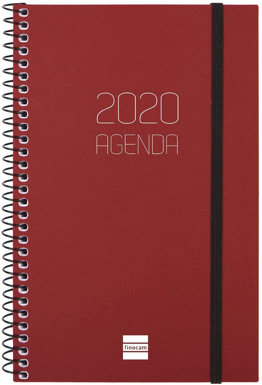 Finocam – Agenda 2020 Week View Landscape Spiral Opaque Bordeaux Catalan