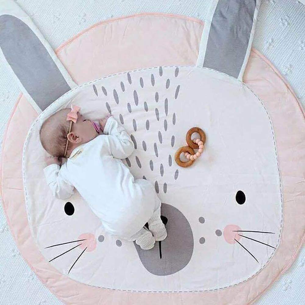 GWW Kids Nursery Rug Cartoon Design Floor Play Mat for Kids Room,Baby Creeping Crawling Mat B