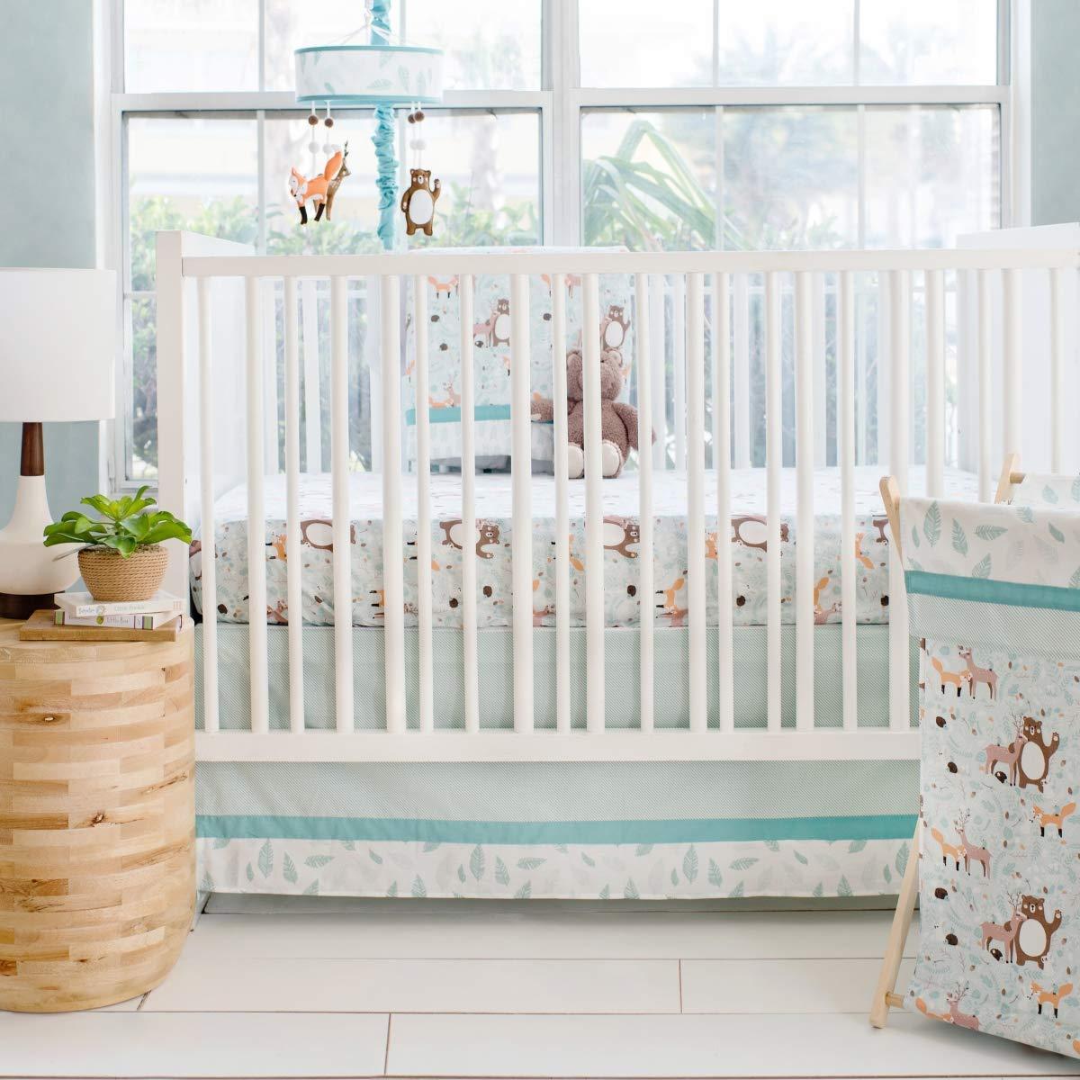 My Baby Sam Forest Friends 3pc Crib Bedding Set