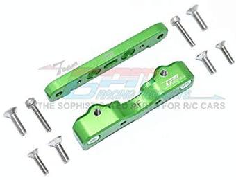 Arrma 1/5 KRATON 8S BLX/Outcast 8S BLX Upgrade Parts Aluminum Rear Lower Suspension Mount - 2Pc Set Green