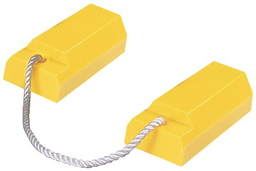 Airplane Chock, 3 In H, Urethane, Yellow, PR