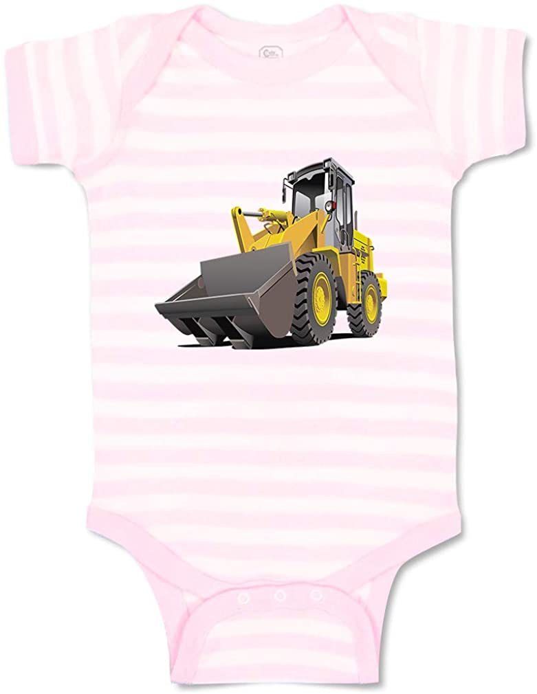 Custom Personalized Boy & Girl Baby Bodysuit Tractor Loader Funny Cotton Baby Clothes