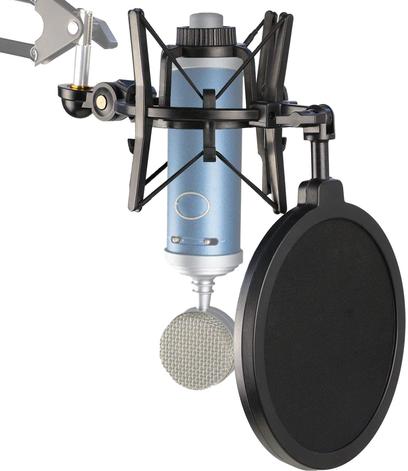Bluebird Shock Mount with Pop Filter, Windscreen and Shockmount to Reduce Vibration Noise Matching Mic Boom Arm for Bluebird SL Microphone by YOUSHARES