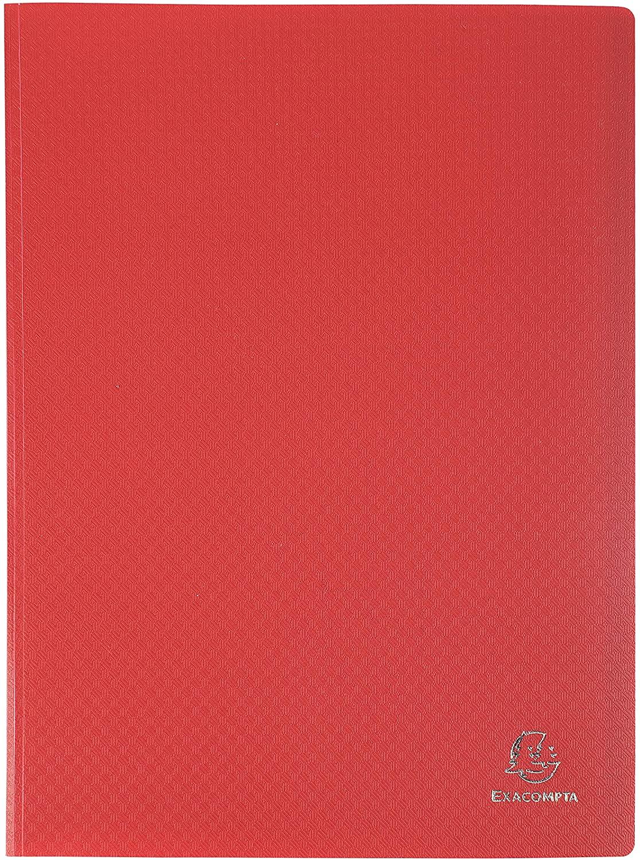 Exacompta Semi-Rigid PP Display Book, A4, 80 Pockets - Red