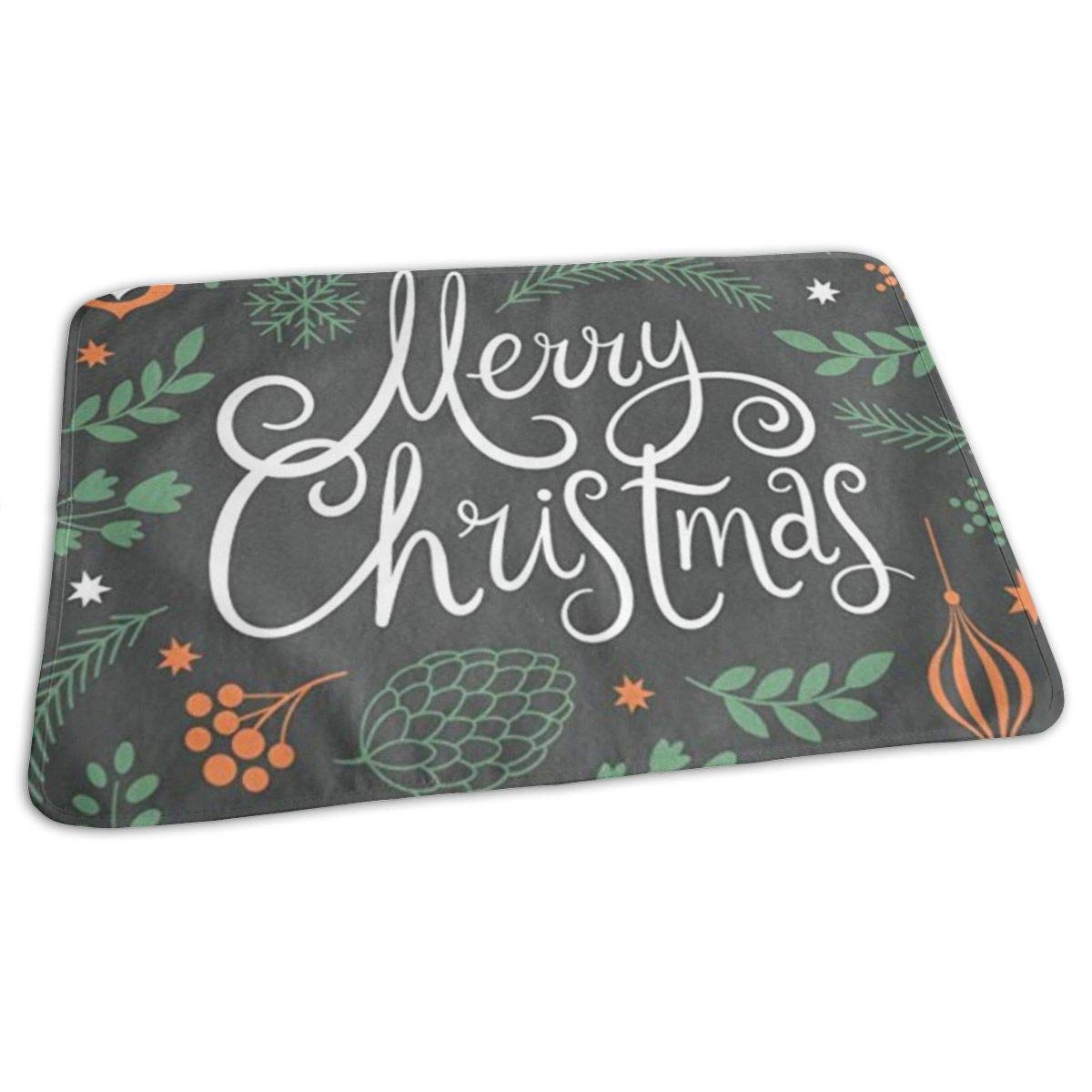 ZZguowuque Portable Changing Pad -Reusable Waterproof Baby Changing Pad(9.457.09 Inch) Merry Christmas Lettering