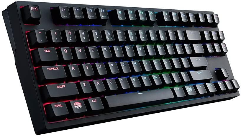 Cooler Master MasterKeys Pro S RGB Mechanical Gaming Keyboard, Cherry MX Red (Linear), RGB LED, TenKeyless (Small)