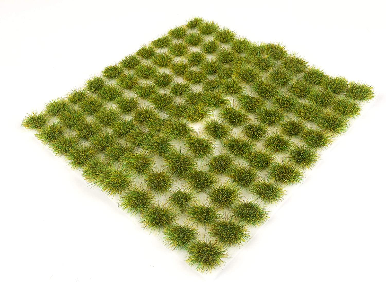 War World Scenics Spring 6mm Self Adhesive Static Grass Tufts x 100 – Railway Modeling Wargaming Terrain Model Diorama