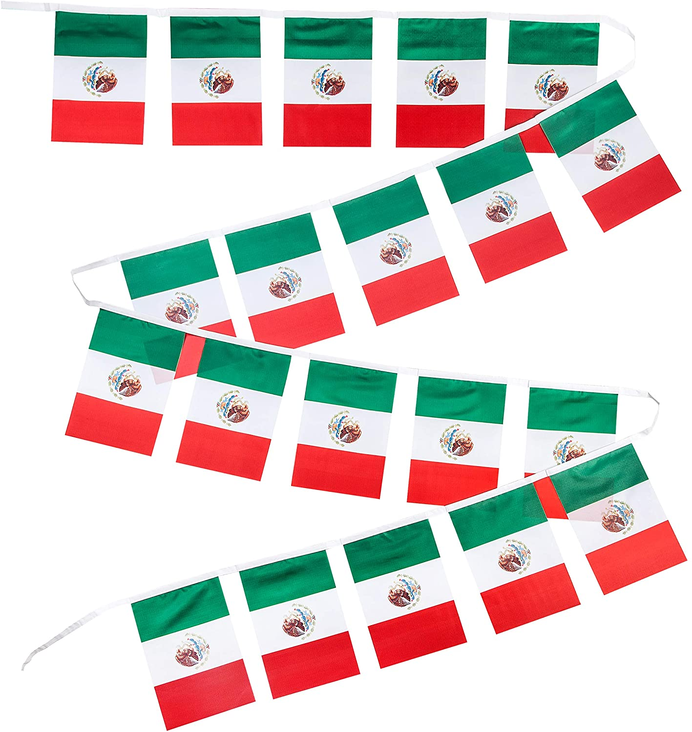 Mexico Flags - Set of 20, Polyester, 8 x 12 Inches