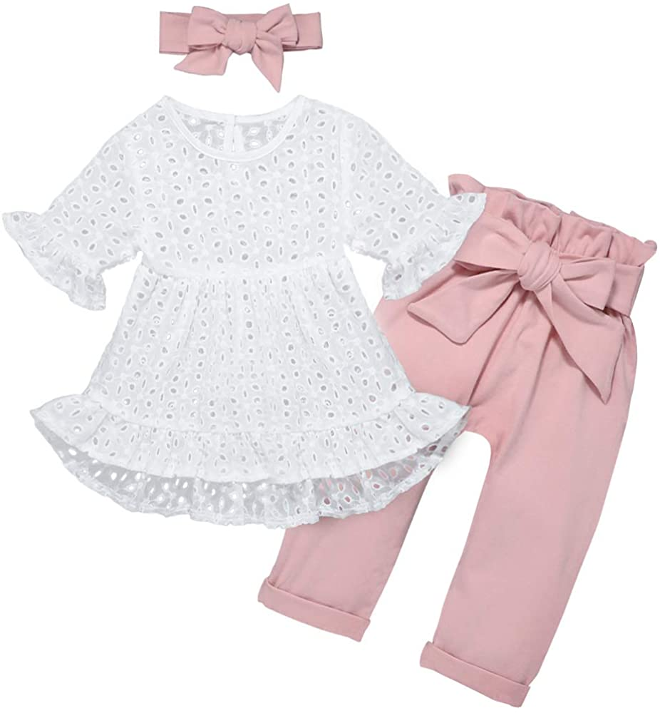 Newborn Toddler Baby Girl Clothes Set Cute Tops Shirt Shorts Pants Summer Infant Girl Outfits Fall Winter