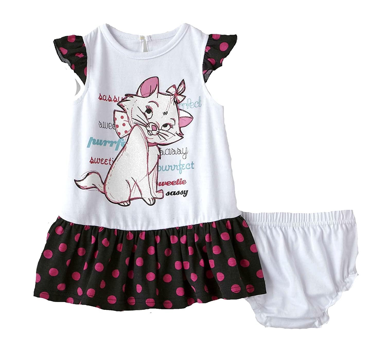 Disney Marie Infant Girl's Dress & Diaper Cover (3/6 M)