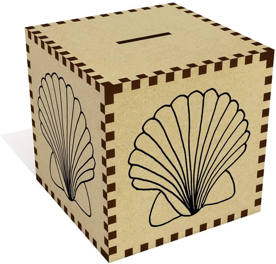 Azeeda Large 'Scallop Shell' Money Box / Piggy Bank (MB00030743)