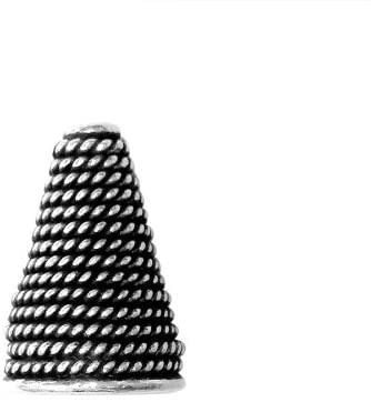 Bali Designs Silver Overlay Cone CSF-219-19X13MM