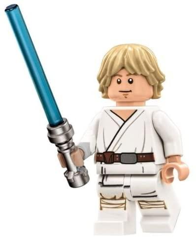 LEGO Star Wars Death Star Minifigure - Luke Skywalker with Lightsaber Mouth Closed (75159)