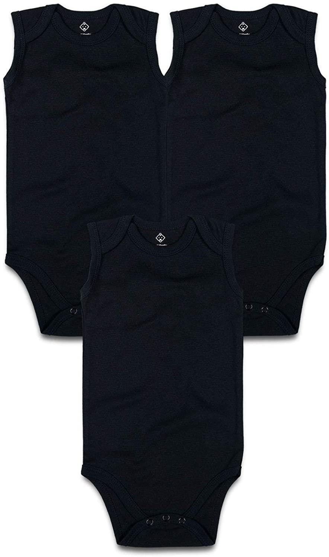 OPAWO Baby Sleeveless Bodysuits for Unisex Boys Girls 3 Pack