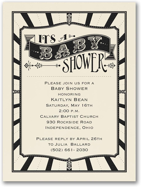 200pk Baby Shower - Baby Shower Invitation - Ecru-Baby Shower Invitations